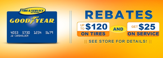 Goodyear Tire and Service Rebates