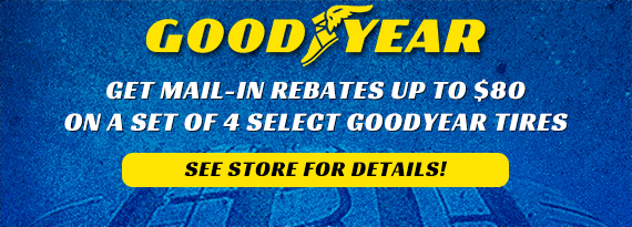 Goodyear & Dunlop Tires - Up to $80